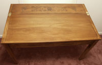 Poplar Teacher's Desk - Hand Carved Mission Style