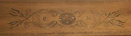 Poplar Teacher's Desk - Hand Carved Mission Style Carving Closeup