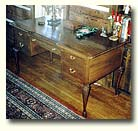 Queen Anne walnut desk (View larger picture)