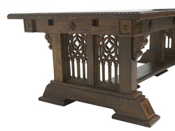 Artisans of the Valley Concise History of American Furniture - Custom Solid Oak New Wave Gothic Dining Table