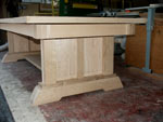 New Wave Gothic Table by Artisans of the Valley - First Time Standing Upright Panels in Place