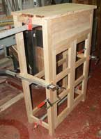 Solid Cherry Custom Pie Safe by Artisans of the Valley - In Progress Frame View with Doors