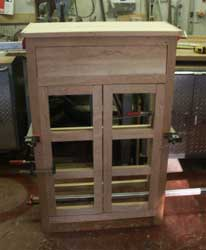 Solid Cherry Custom Pie Safe by Artisans of the Valley - In Progress Front Frame
