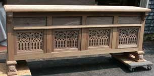 Hand Made Custom Solid Walnut New Wave Gothic Server by Artisans of the Valley - In Progress - Panels Dryfit