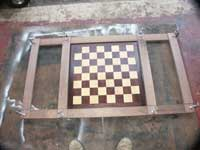 Chessboard Coffee Table In Progress - Surface and Chessboard Layout