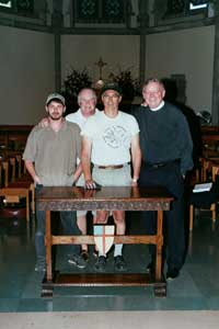 Design Team - Custom Oak Credence or Communion Table