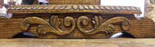 Scrollwork Carving Closeup - Custom Solid Oak Gothic Credence Table
