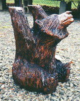 Artisans of the Valley feature Chainsaw Carving by Bob Eigenrauch - Bear table base