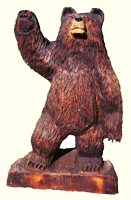 Artisans of the Valley feature Chainsaw Carving by Bob Eigenrauch - Bear Waiving