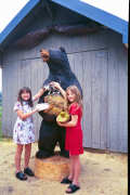 Artisans of the Valley feature Chainsaw Carving by Bob Eigenrauch - Two Grils with a Black Bear