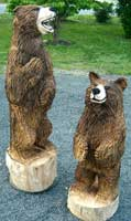 Artisans of the Valley feature Chainsaw Carving by Bob Eigenrauch - Bears