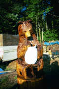 Artisans of the Valley feature Chainsaw Carving by Bob Eigenrauch - Bear in the Honey Jar