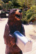 Artisans of the Valley feature Chainsaw Carving by Bob Eigenrauch - Bear Mailbox Closeup