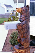 Artisans of the Valley feature Chainsaw Carving by Bob Eigenrauch - Bear Mailbox Side View