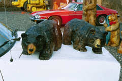 Artisans of the Valley feature Chainsaw Carving by Bob Eigenrauch - Two Black Bear Cubs