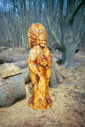 Artisans of the Valley feature Chainsaw Carving by Bob Eigenrauch - Native American Cheif Stained