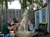 Step 22 Timberwolf Chainsaw Carving - Stan Saperstein