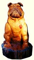 Artisans of the Valley feature Chainsaw Carving by Bob Eigenrauch - Sitting Bulldog