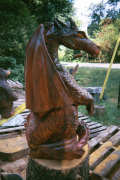 Artisans of the Valley Chainsaw Carving - Bob Eigenrauch Original Dragon Sculpture