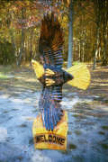 Artisans of the Valley feature Chainsaw Carving by Bob Eigenrauch - Swooping Eagle Front