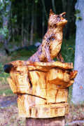Artisans of the Valley feature Chainsaw Carving by Bob Eigenrauch - Fox Overlook