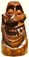 Artisans of the Valley feature Chainsaw Carving by Bob Eigenrauch - Grimace