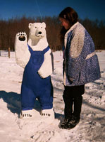 Artisans of the Valley feature Chainsaw Carving by Bob Eigenrauch - Polar Bear in Overalls