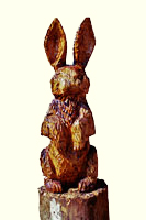 Artisans of the Valley feature Chainsaw Carving by Bob Eigenrauch - Rabbit at Attention
