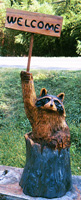 Artisans of the Valley feature Chainsaw Carving by Bob Eigenrauch - Raccon Welcome