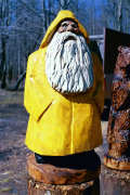 Artisans of the Valley feature Chainsaw Carving by Bob Eigenrauch - Bearded Man Fisherman