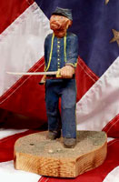 Hand carved civil war soldier