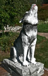 Chainsaw / Hand Carved Full Scale Timberwolf by Artisans of the Valley - Front Angle View