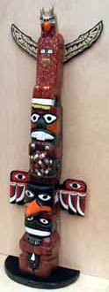 Large Scale Totem Pole by Stanley D Saperstein